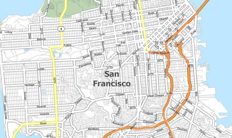 San Francisco Map [California]
