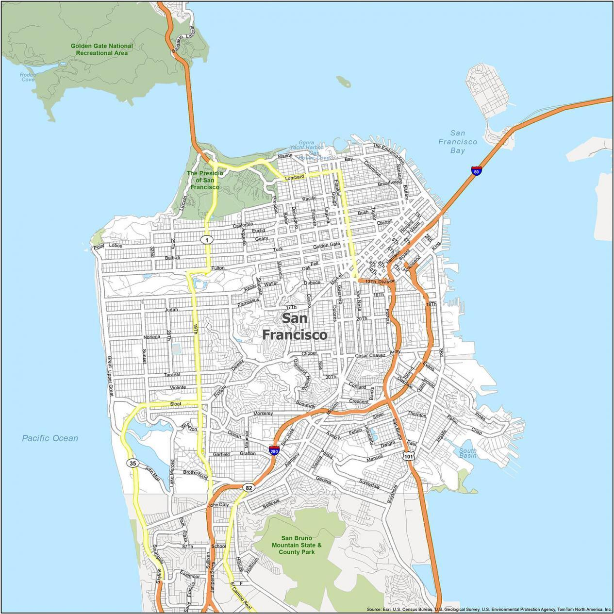 San Francisco Road Map