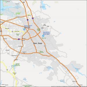 San Jose Map California
