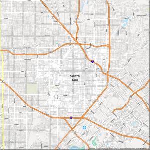 Santa Ana Road Map