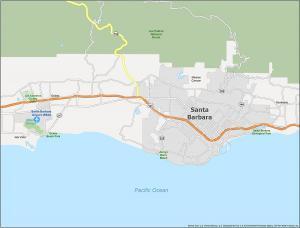 Santa Barbara Map California