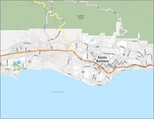 Santa Barbara Road Map