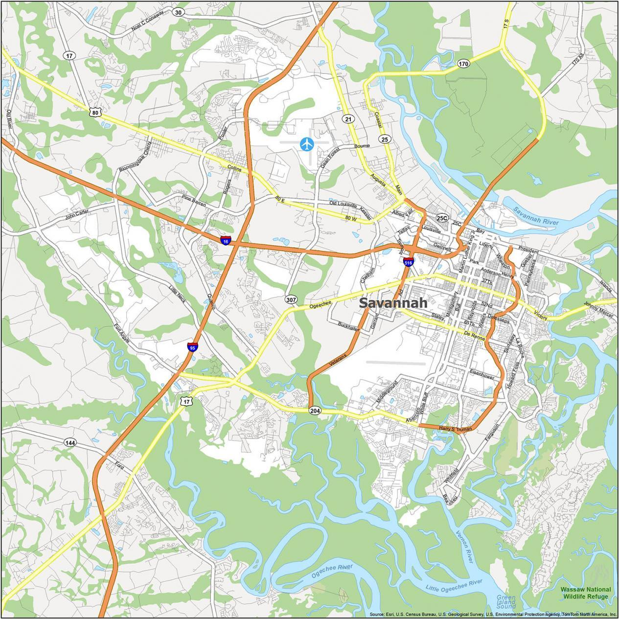 Savannah Road Map