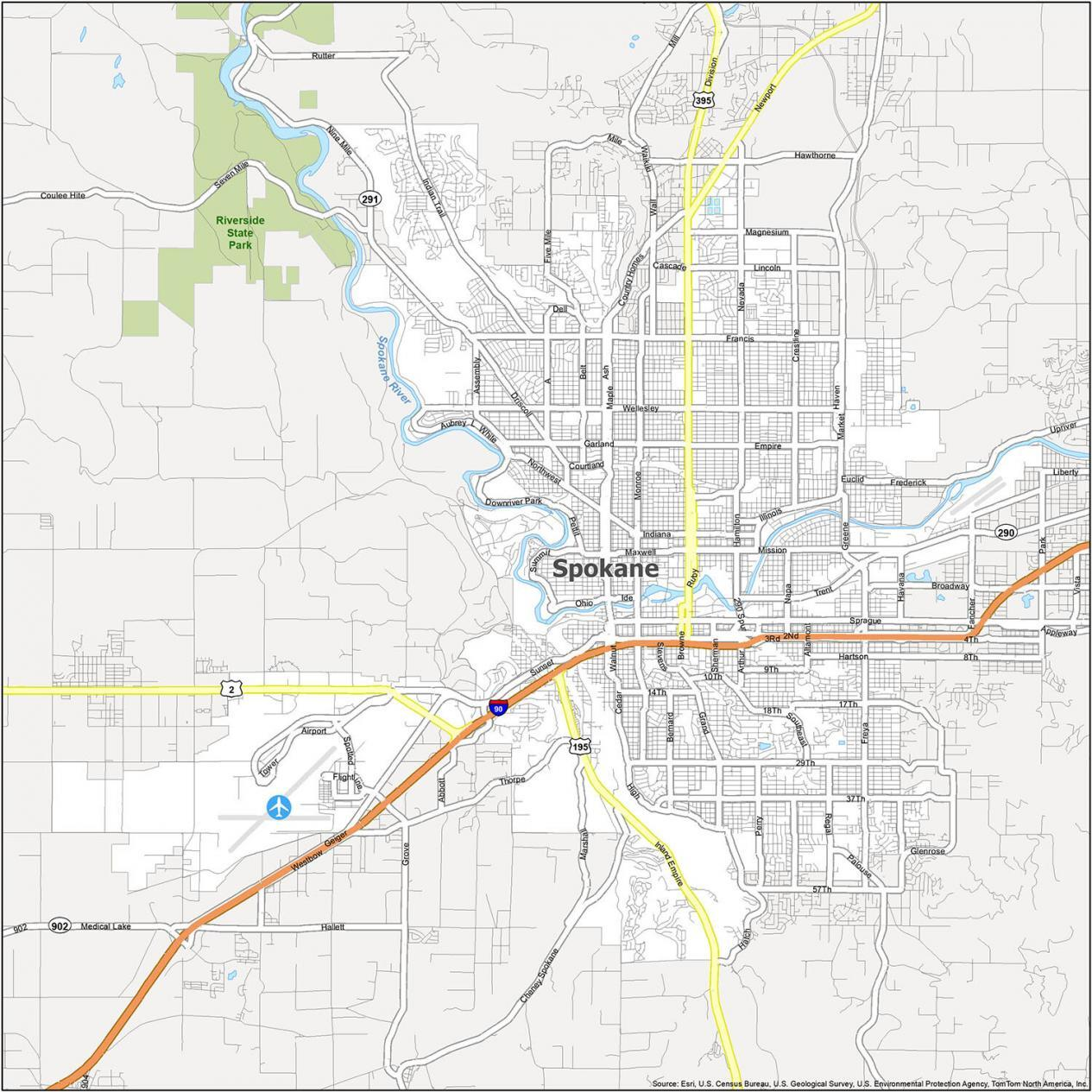 Spokane Road Map