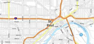 St Paul Map