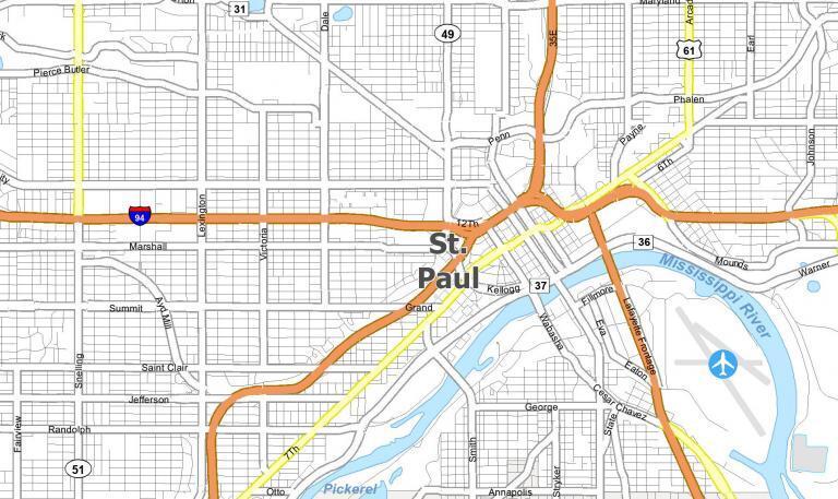 St. Paul Map [Minnesota]