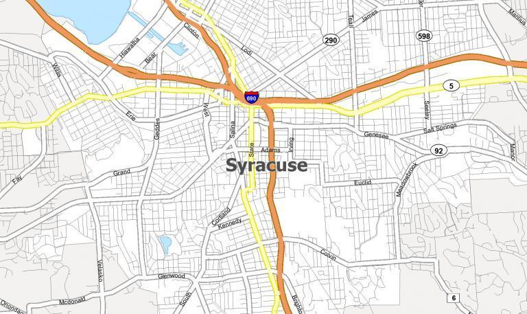 Map of Syracuse, New York