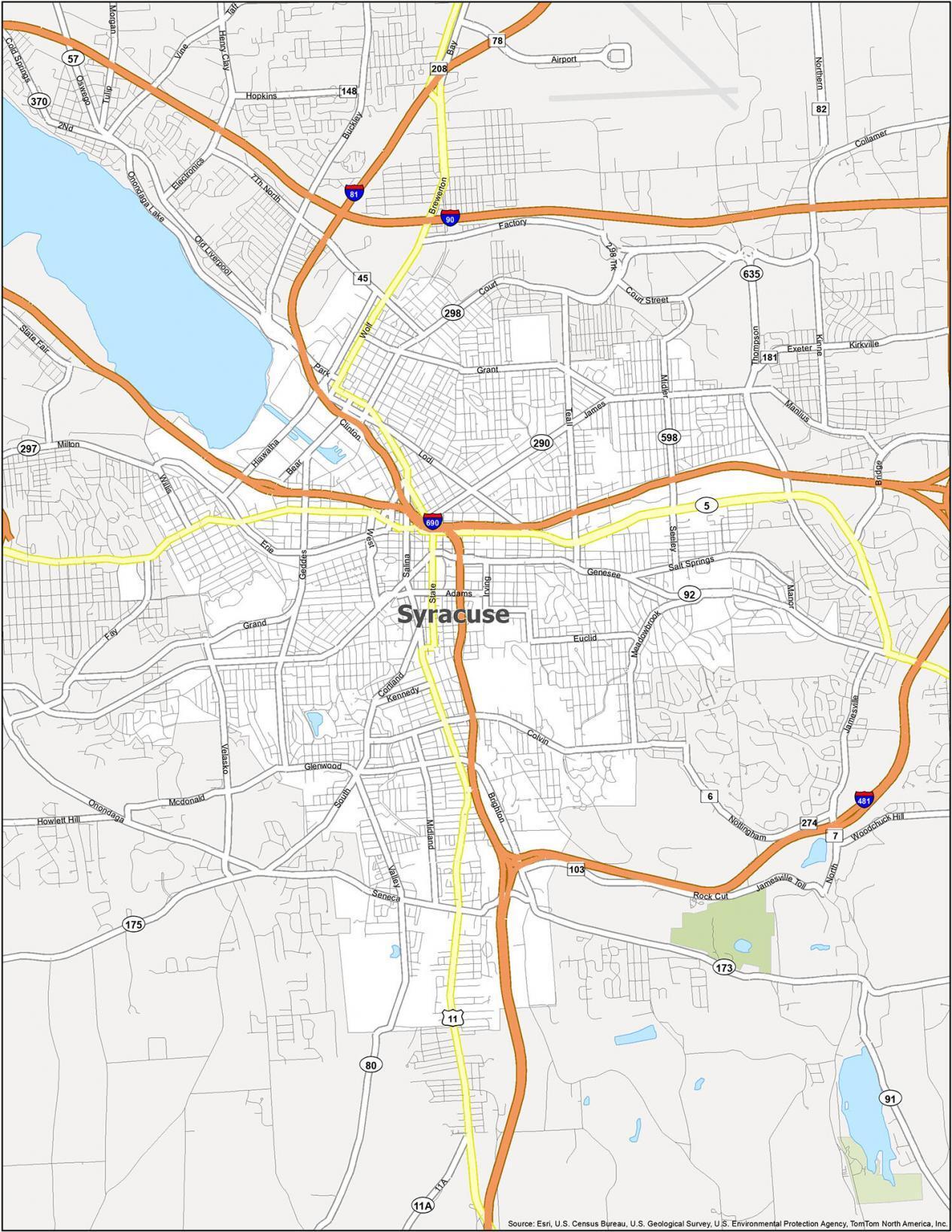 Syracuse Road Map
