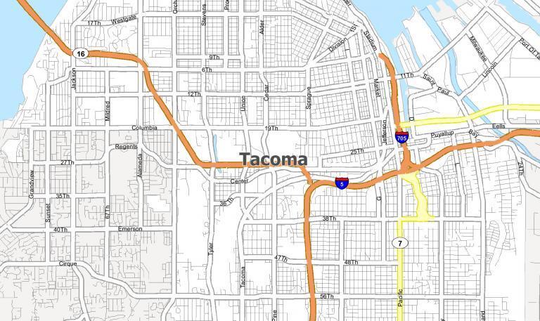 Tacoma Washington Map