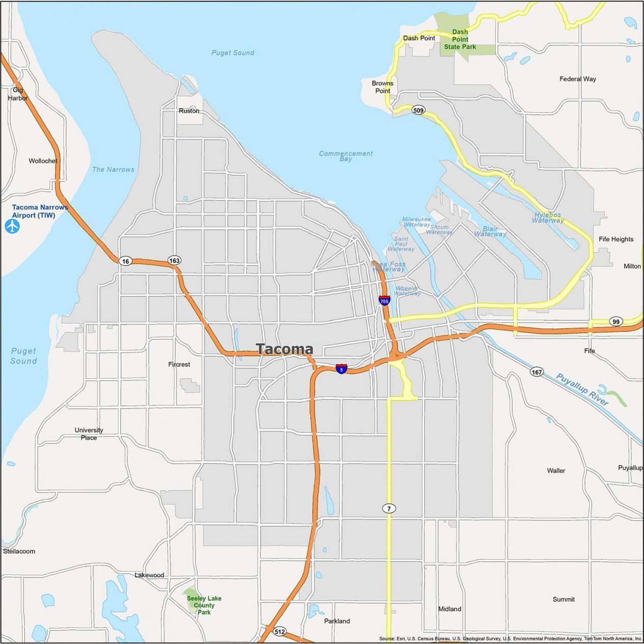 Tacoma Map Washington