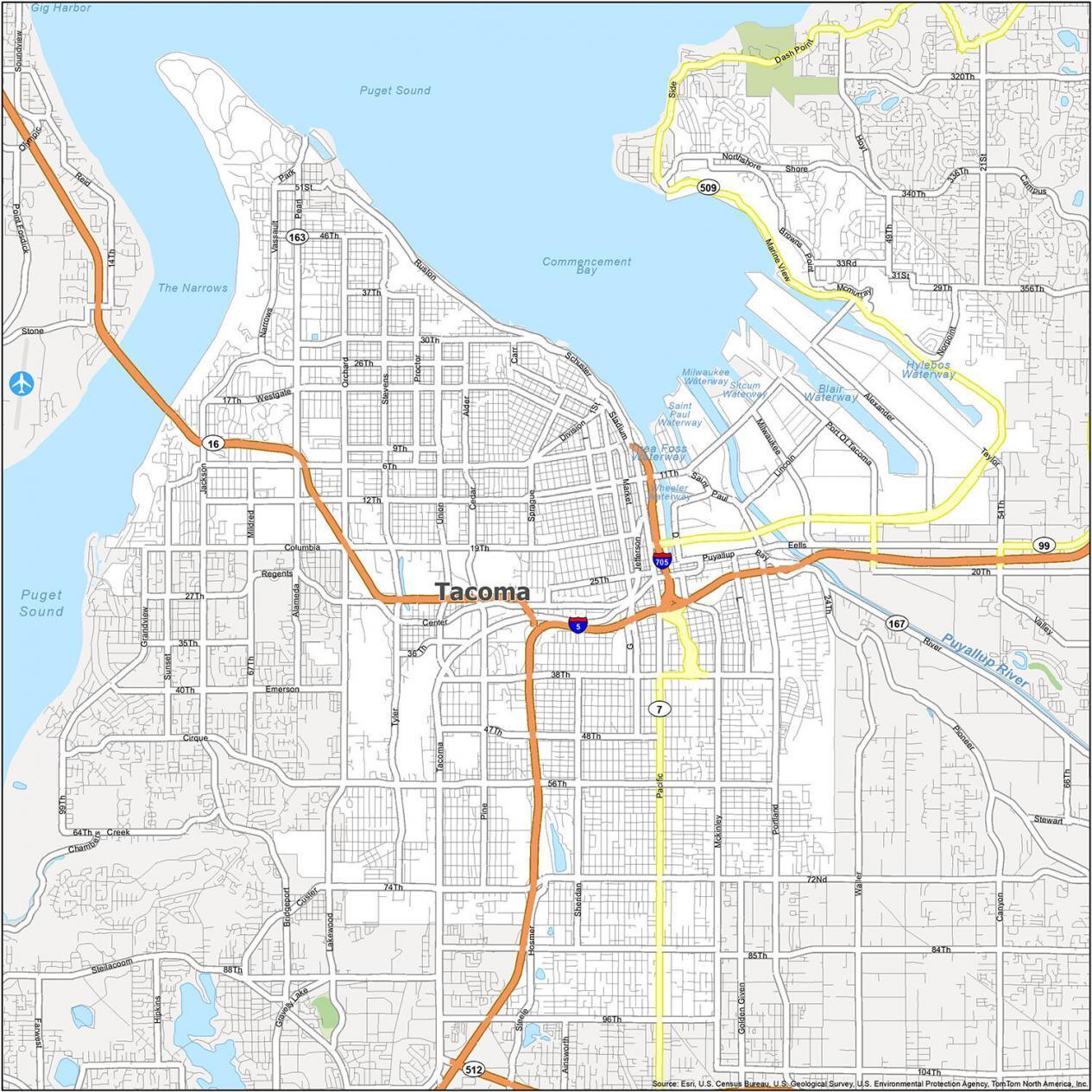 Tacoma Road Map
