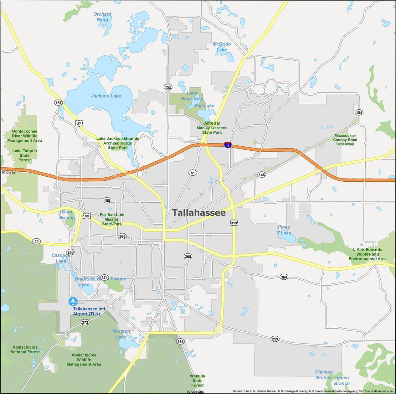 Tallahassee Map Florida
