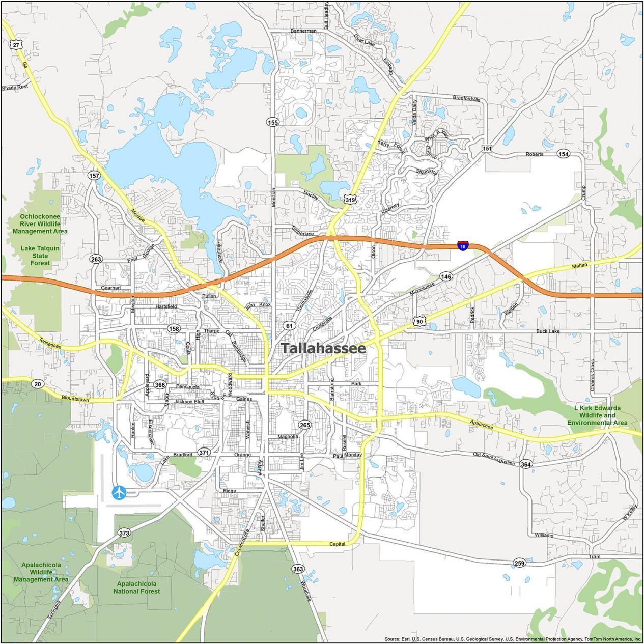 Tallahassee Road Map