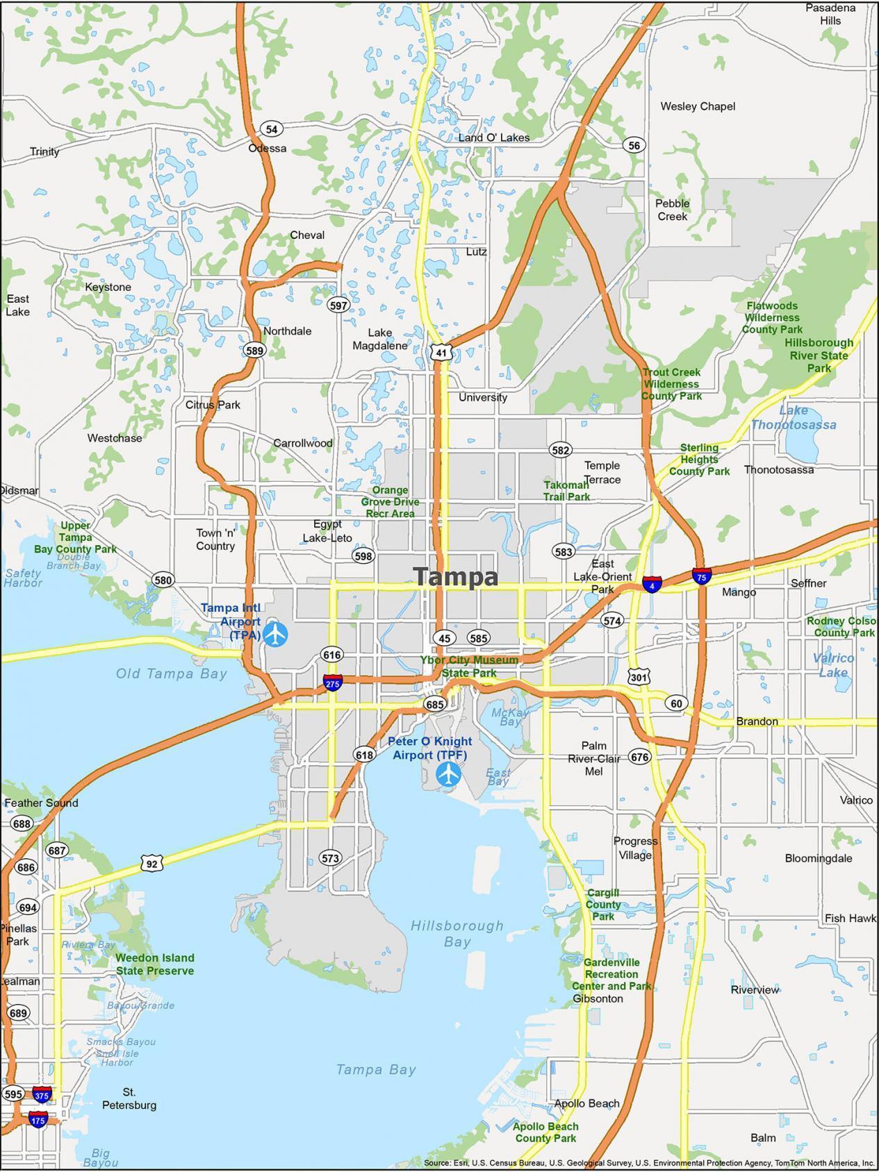 Tampa Map Florida