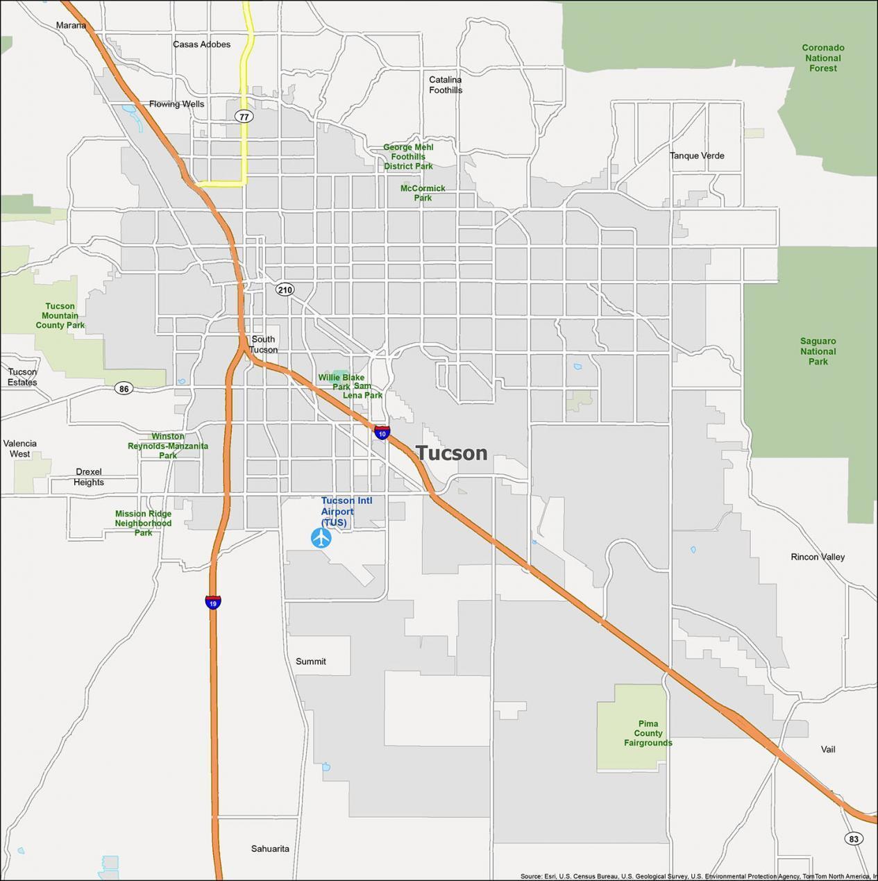 Tucson Map Arizona