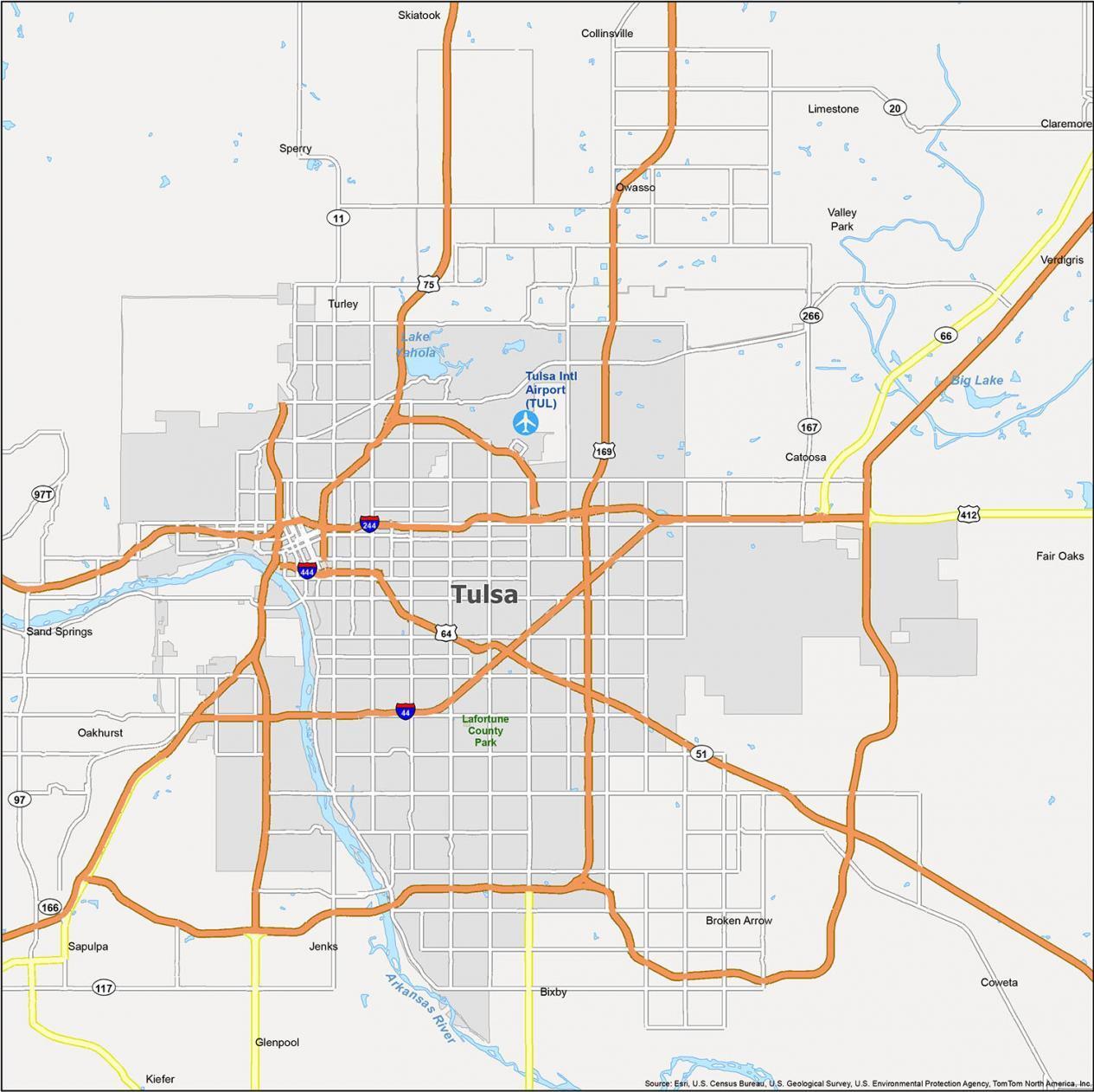 Tulsa Map Oklahoma