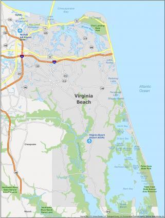 Virginia Beach Map Virginia