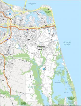 Virginia Beach Road Map