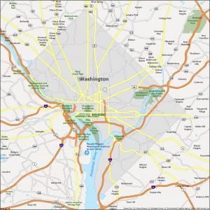 Washington DC Map District of Columbia