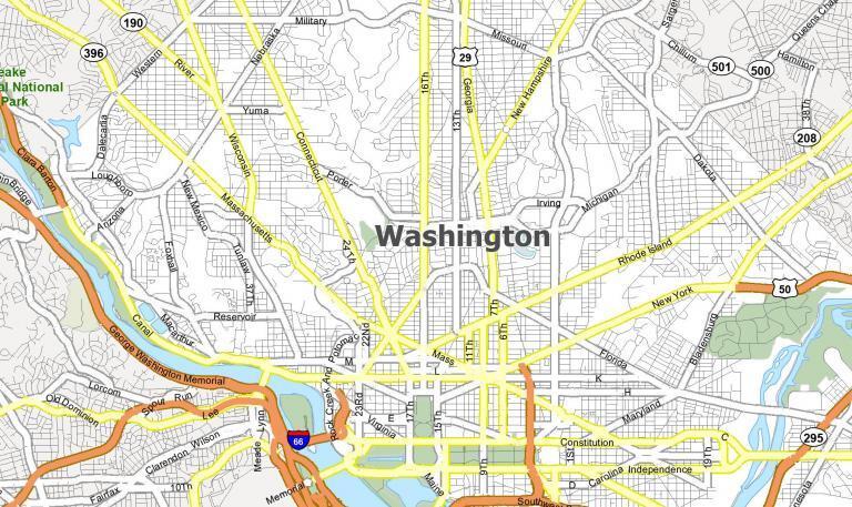 Washington DC Map [District of Columbia]