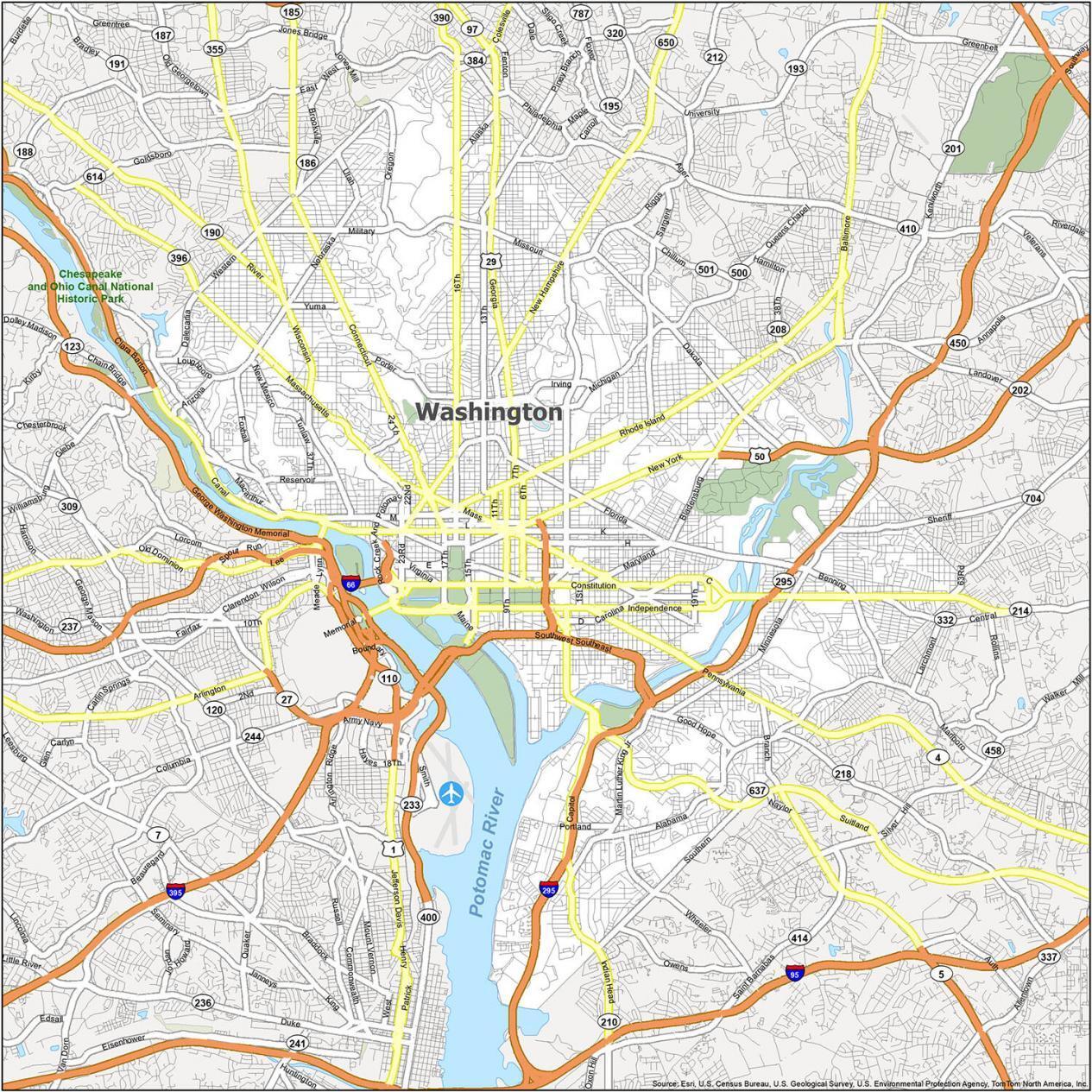 Washington DC Road Map