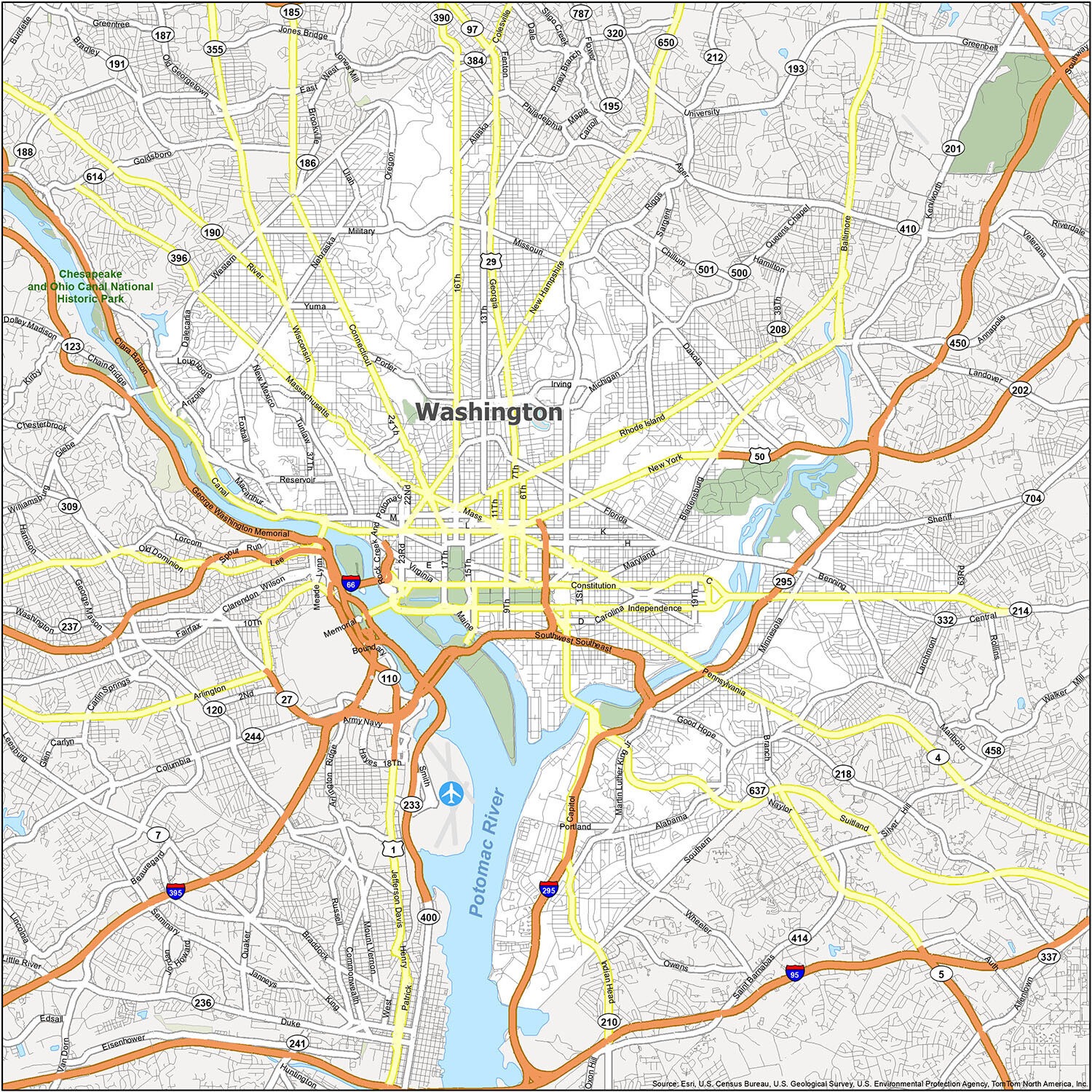 Picture of: Washington Dc Map District Of Columbia Gis Geography