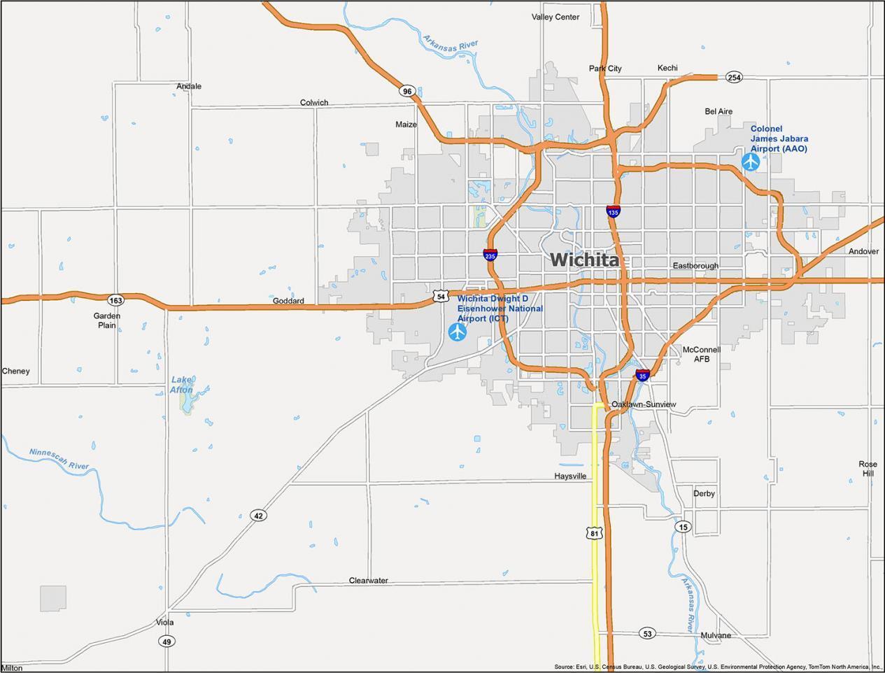 Wichita Map Kansas
