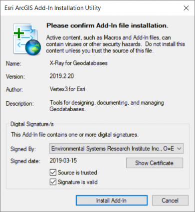 Esri ArcGIS Install Add-In