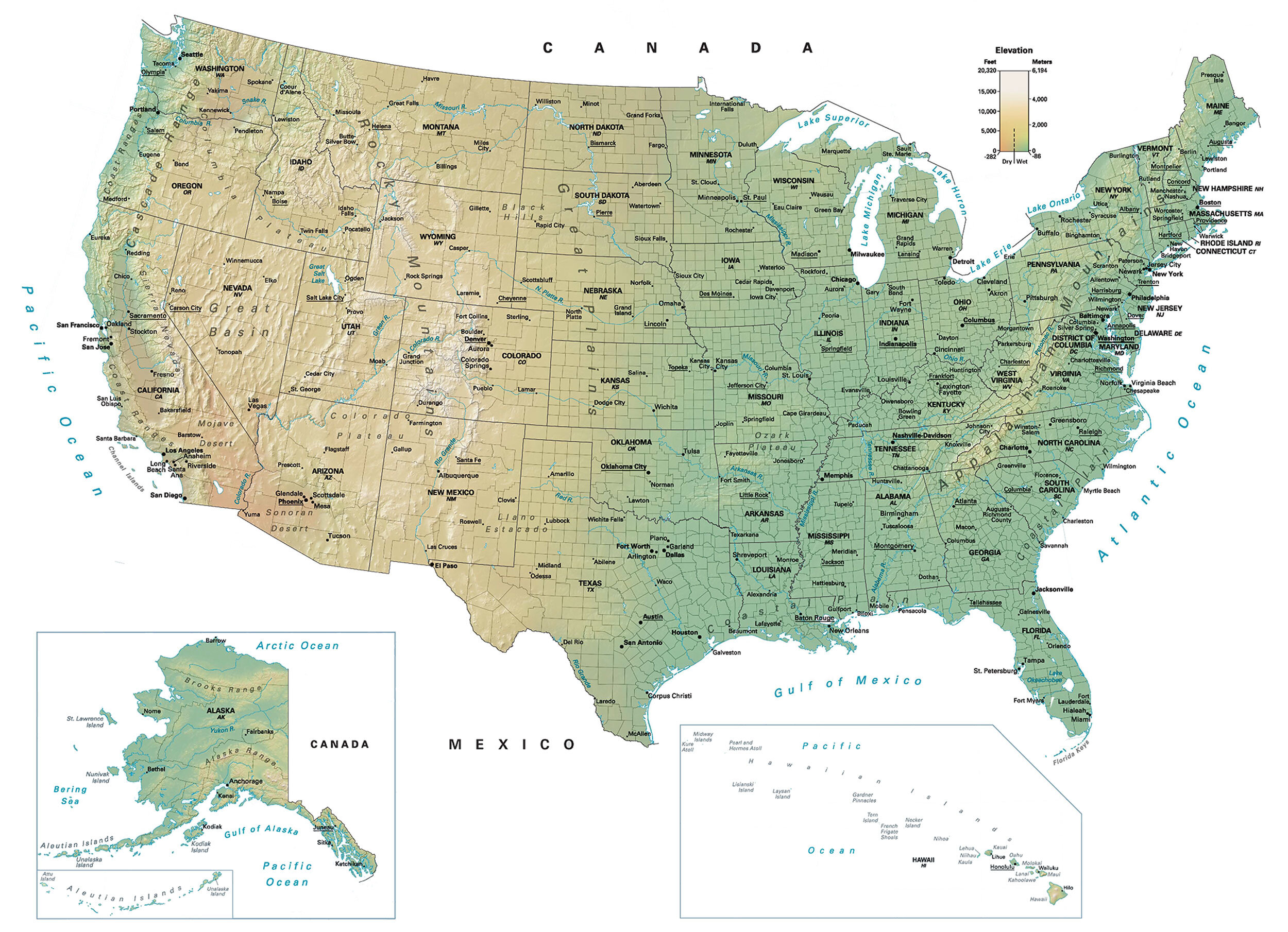 Picture of: Map Of Usa United States Of America Gis Geography