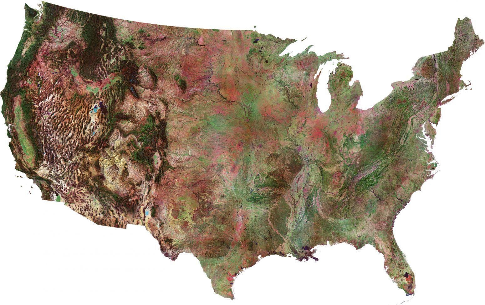 Satellite Map USA