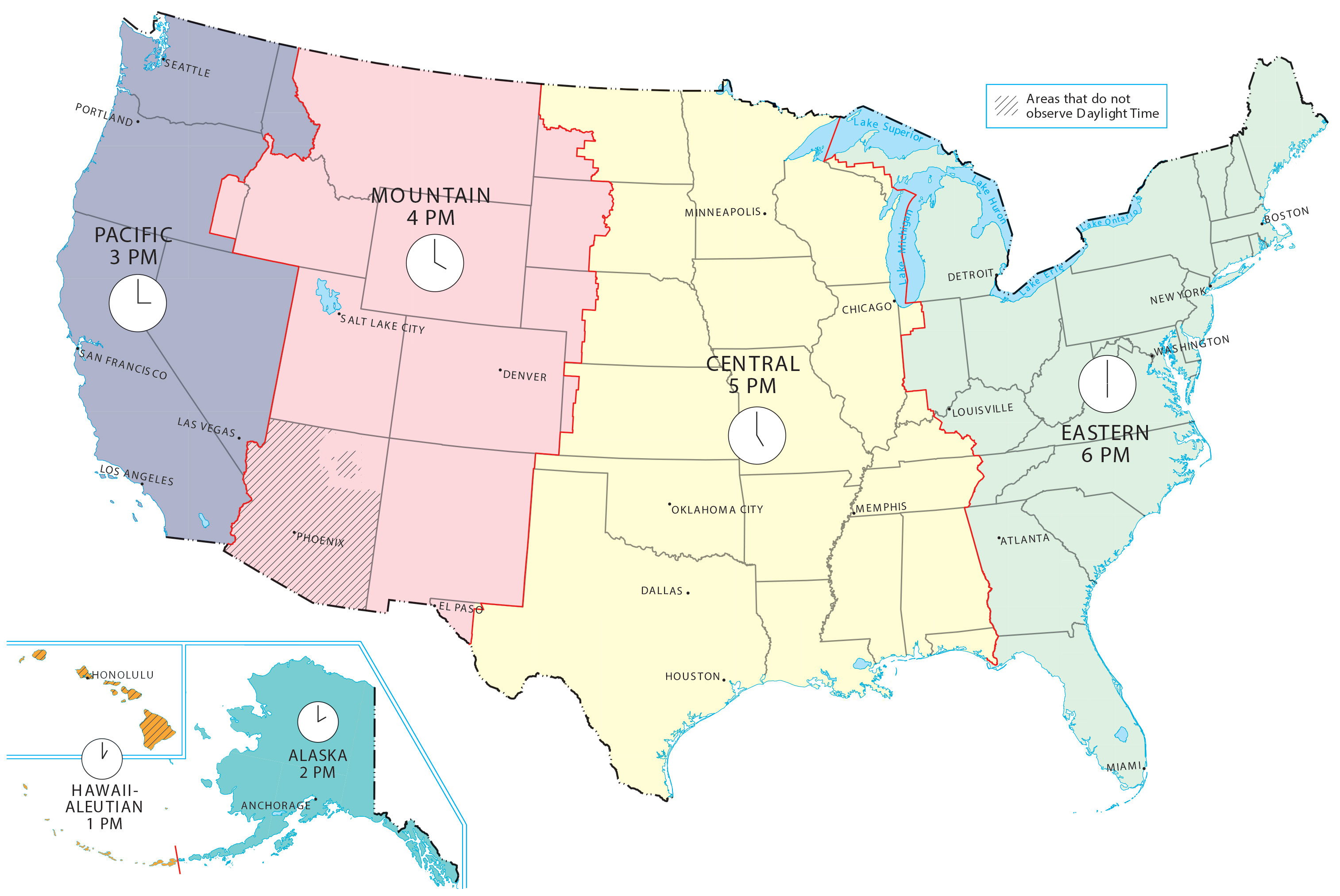 Image of: Us Time Zone Map Gis Geography