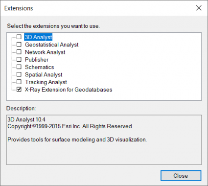 X-Ray Extensions For Geodatabases