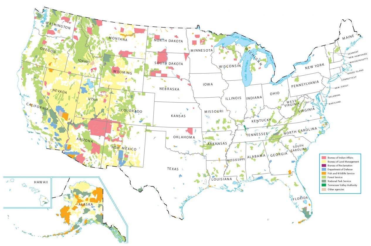 Federal Lands United States Map