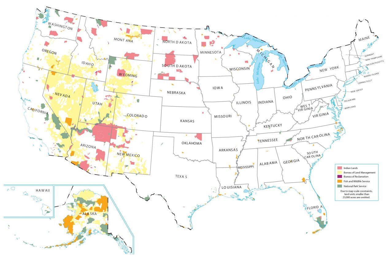 Land Management United States Map