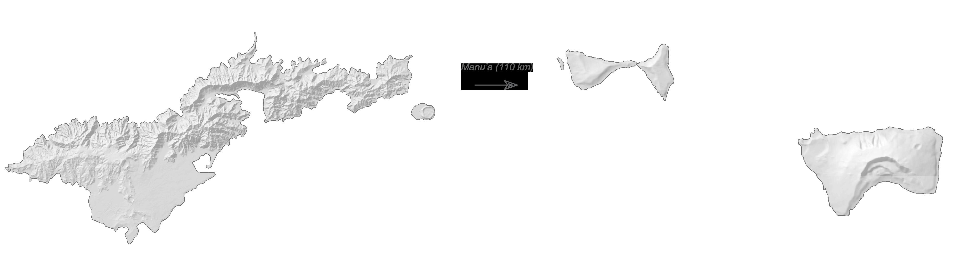 American Samoa Elevation Map