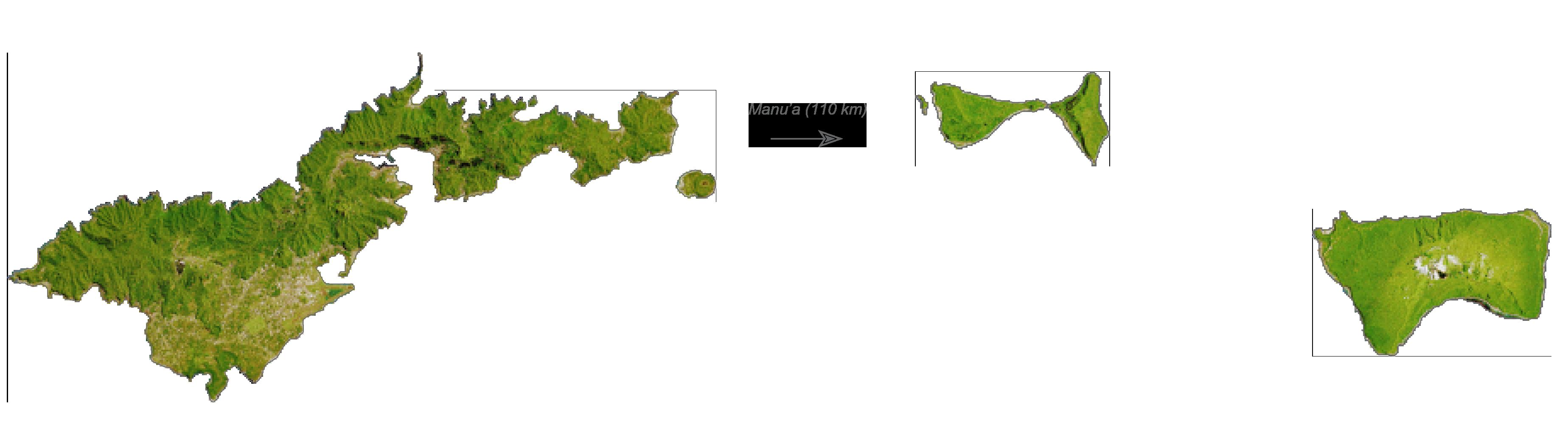 American Samoa Satellite Map