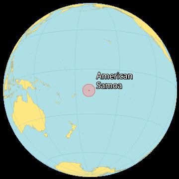American Samoa World Map