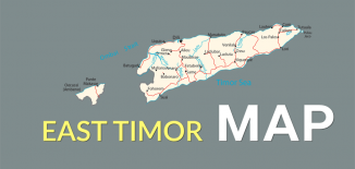 East Timor Map Feature