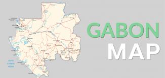 Gabon Map Feature