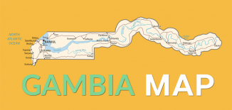 Gambia Map Feature
