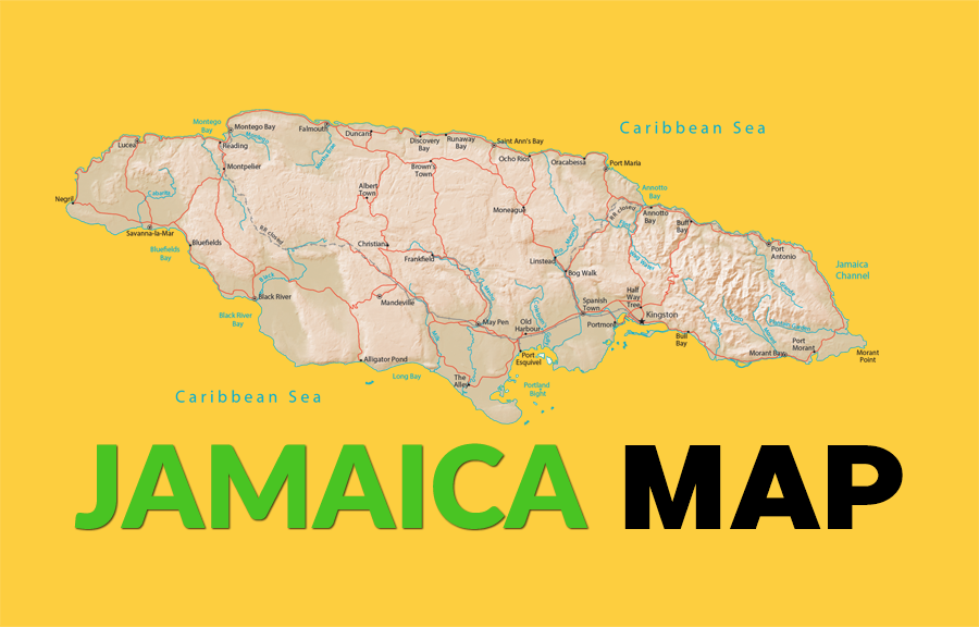 Map Of Jamaica Gis Geography