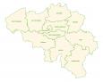 Belgium Province Map