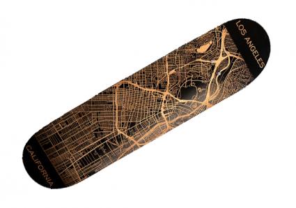 Custom Engraved Skateboard-Map