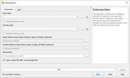 Intersection Tool QGIS