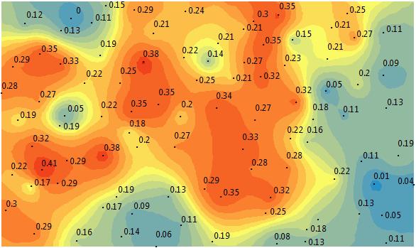 Kriging Interpolation Surface