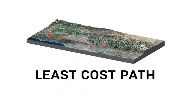 Least Cost Path Analysis in GIS
