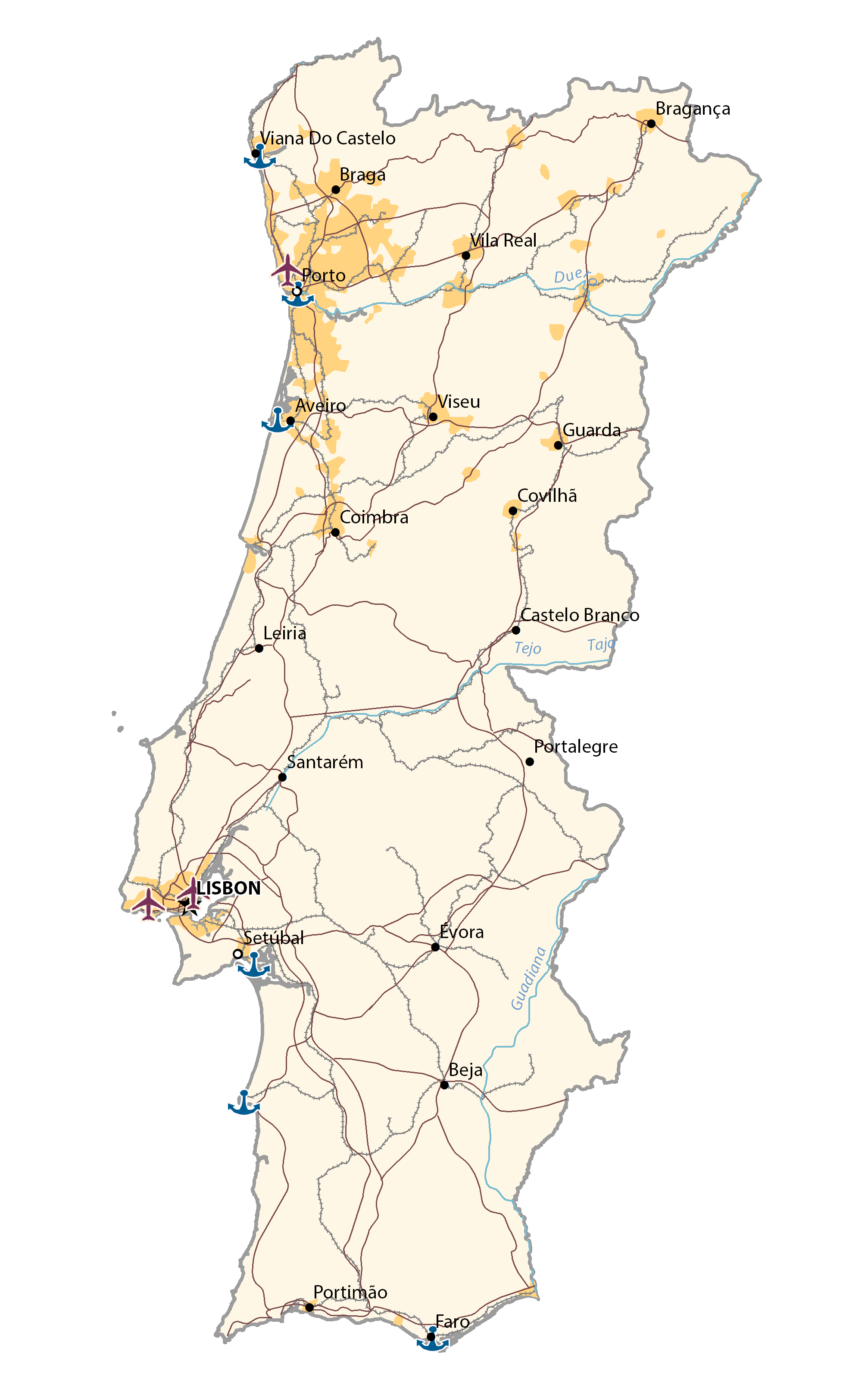 Picture of: Map Of Portugal Gis Geography