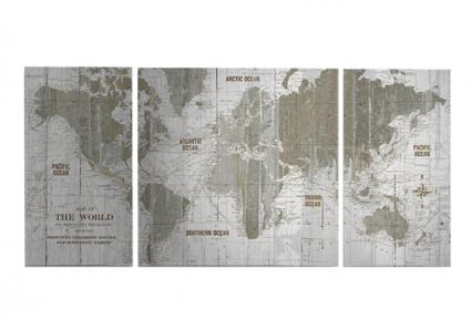 Wayfair Map Canvas Art