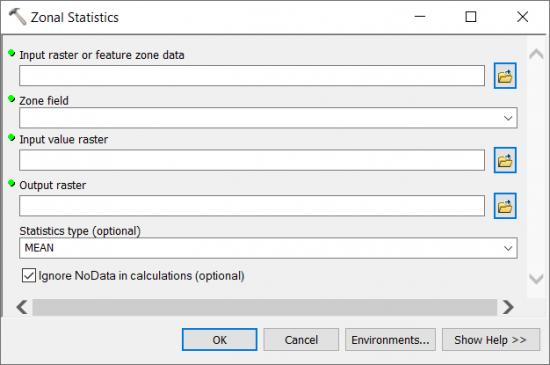 Zonal Statistics ArcGIS