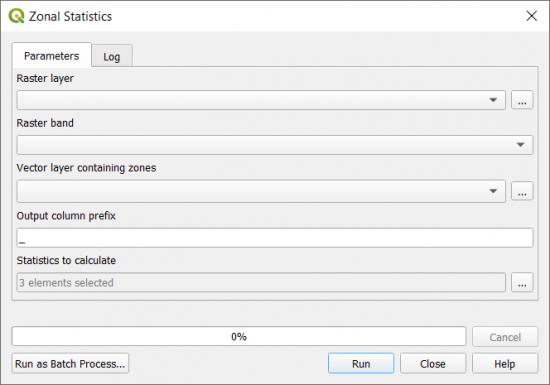 QGIS Statistics for Zonal Extents